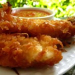 Crunchy Coconut Chicken with Spicy Apricot