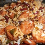 Sweet Kielbasa with Beans and Rice