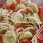 Cucumber, Onion, and Tomato Salad