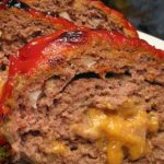 Tasty Bacon Wrapped Cheese Stuffed Meatloaf.