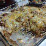Creamy burrito casserole