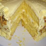 Lemon Cake with Lemon Filling and Lemon Butter