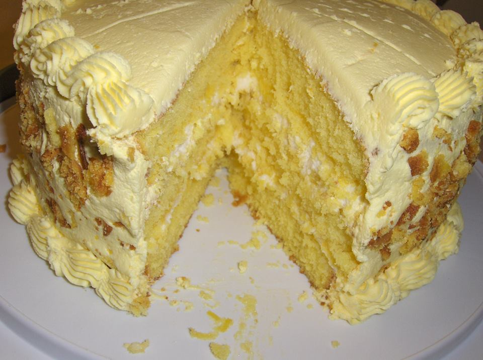 Lemon Cake With Lemon Filling And Lemon Butter Best Cooking Recipes In The World