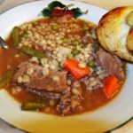 homemade vegetable beef barley soup yummy