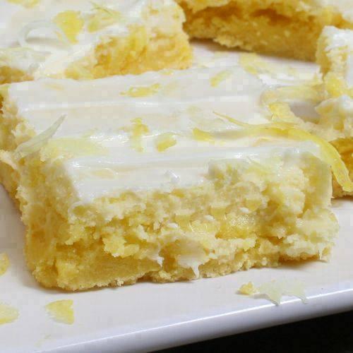 Cream Cheese Lemon Bars Recipe yummy