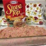MEATLOA WITH STOVE TOP STUFFING.