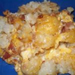 Cheesy Chicken, Bacon, and Tator Tot Crock Pot Bake