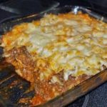 Cheesy Layered Ground Beef and Pasta Casserole