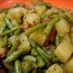 Crockpot Ham, Green Beans and Potatoes