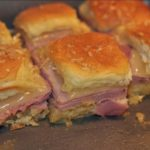 Mini Hot Ham and Cheese Sandwiches