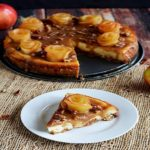 Salted Caramel Apple Cheesecake with Apple Roses