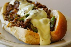 recipe SLOW COOKER PHILLY CHEESE STEAK SANDWICHES