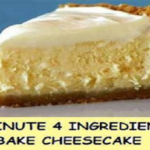 5 MINUTE 4 INGREDIENT NO BAKE CHEESECAKE