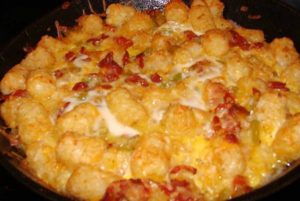 Bacon, Egg, and Tater Tot Casserole