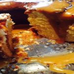 CREAM CHEESE POUND CAKE w/ Caramel sauce