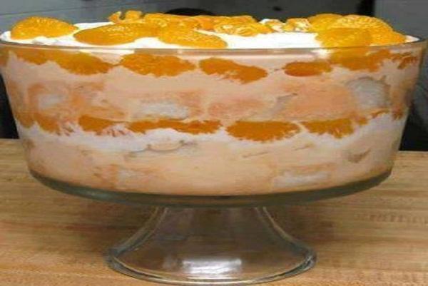 Orange Angel Food Cake
