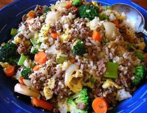 Ground Beef Fried Rice