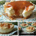 Mini Caramel Apple Streusel Cheeecakes