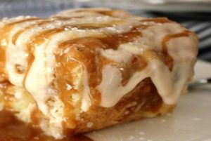 Salted Caramel Sour Cream Cake!