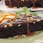 TURTLE FUDGE SKILLET CAKE