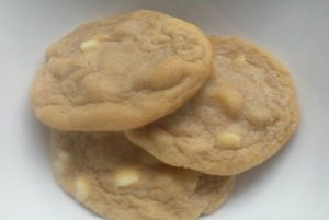 White Chocolate Chip and Macadamian Nut Cookies