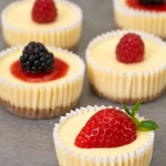 Easy Mini Cheesecakes